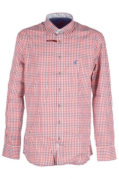 Orbis Herrenhemd 420000-3582/35 weinrot Slim fit