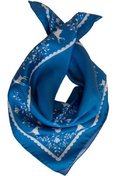 Sportalm Tuch Bach blue Hirschprint