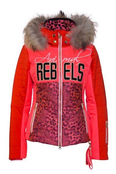 Sportalm Skijacke Blossom m.Kap.+Pelz neon pink