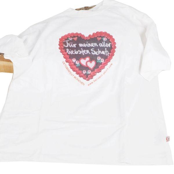 Girardelli T-Shirt weiß mit Lebkuchenherz-Motiv Liebster Schatz