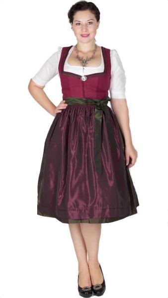 15207 Wenger Dirndl Josie 70er beere oliv