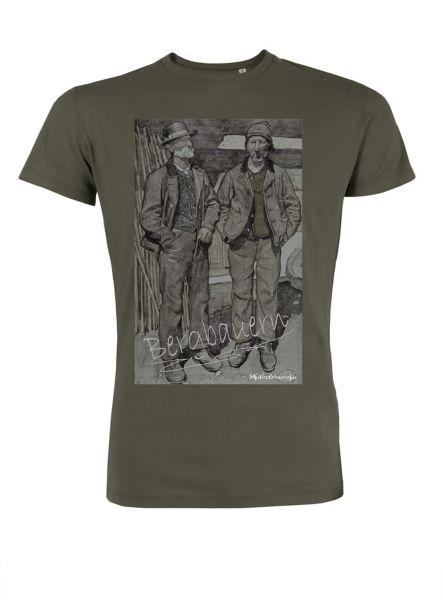 Mister Edelweiss Herren T-Shirt 21412 Bergbauer Gr L Khaki