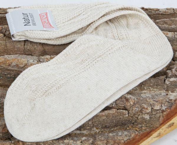 LN3523-75 Umschlag Schoppersocke beige natur meliert