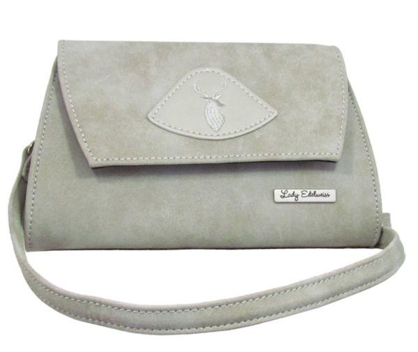 17500 Lady Edelweiss Trachten Clutch grau