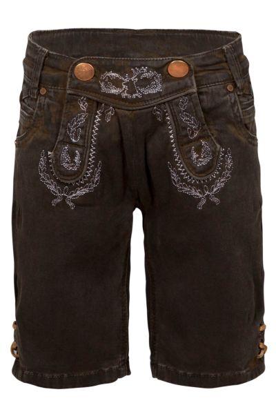 Hangowear Trachten Short Kid`s Dkl-braun coated 1769