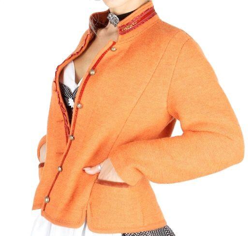 1445 Litzlfelder Strickjacke orange
