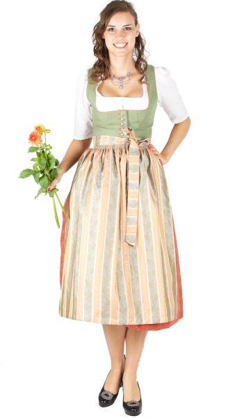 14927 Wenger Dirndl Margit 80er länge grün orange