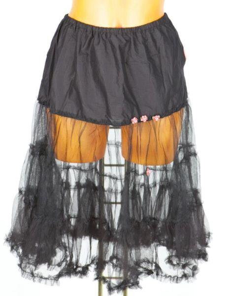 13333 Schmuckstück Petticoat für Dirndl 60cm schwarz