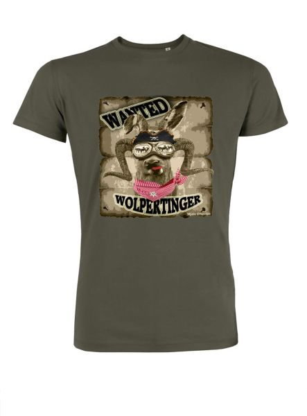 Mister Edelweiss Herren T-Shirt 21005 Wanted Gr XL Khaki