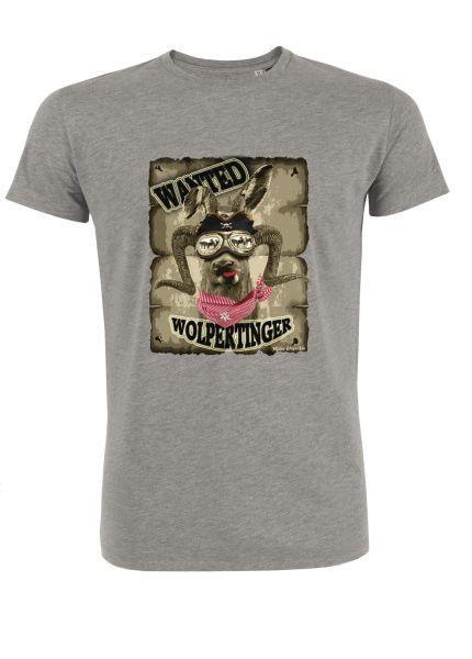 Mister Edelweiss Herren T-Shirt 21005 Wanted Gr L Grey
