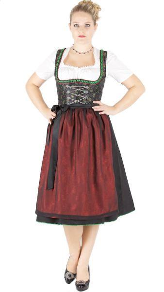 13780 Wenger Dirndl 70er Gr 38 schwarz grün rot