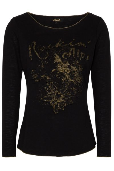 Hangowear Damen T-Shirt Hanka 1202 71225 Schwarz langarm
