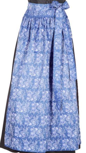 027 Dirndlschürze 95er länge blau