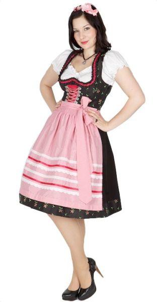 Country Line 60er Dirndl 9575 schwarz pink
