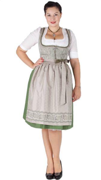 15938 Wenger Dirndl Janine 65er beige grün