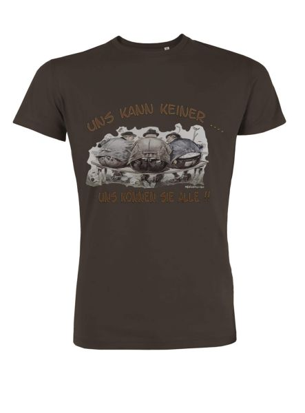 Mister Edelweiss Herren T-Shirt 21415 Uns kann keiner Gr L Chocolate