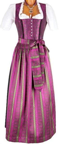 4090 Designer Krüger Dirndl schwarz pink 95er