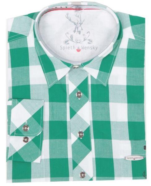 Spieth & Wensky Herren Trachtenhemd Huttrum grün weiss