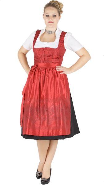 13817 Wenger Dirndl 70er Gr 38 schwarz rot