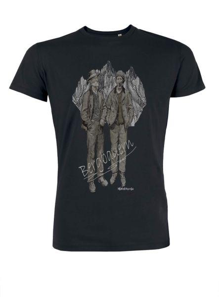 Mister Edelweiss Herren T-Shirt 21411 Bergbauer Gr L Schwarz