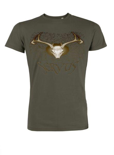 Mister Edelweiss Herren T-Shirt 21007 Servus Gr M Khaki