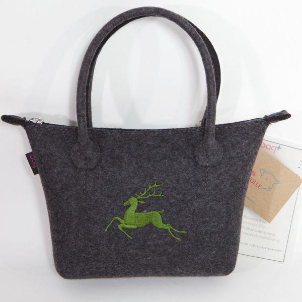 bag+ Trachtentasche Bernau small graphit mit Hirschmotiv