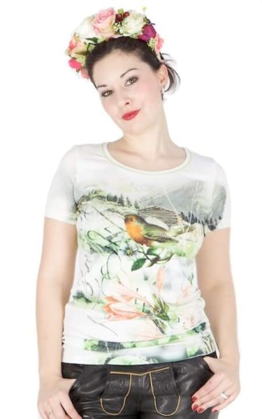 Sportalm T-Shirt Nicola Alpenmoitiv Vogel