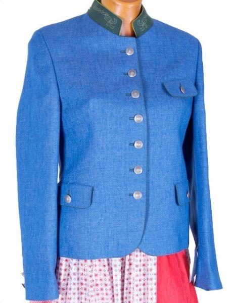 Allwerk Iris Damen Leinenblazer blau Gr 36