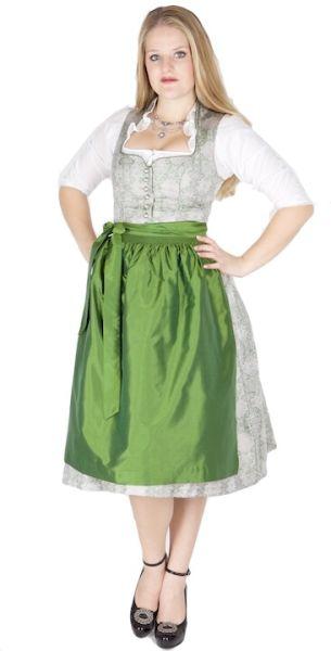11577 Wenger Dirndl Patrizia 70er hellgrau grün