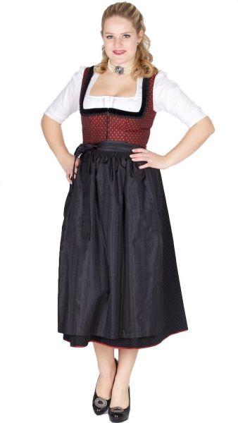 15311 Wenger Dirndl Rita 80er Gr 38 rot schwarz