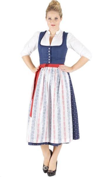 13206 Wenger Dirndl Emma (89) 80er marine weiß