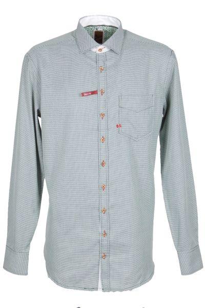 Orbis Herrenhemd 420000-3640/55 oliv Slim fit