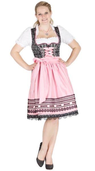 11181 Krüger feelings 60er Dirndl schwarz rosa