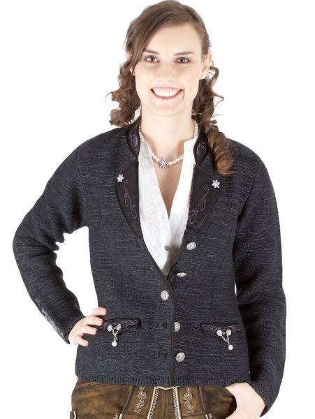 Damen Wollblazer Penzberg 9780 schwarz schimmer