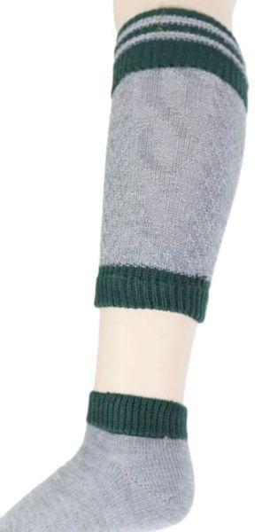 1441/03 Socken + Loferl grau trachtengrün