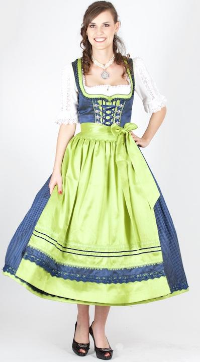 81d6f451ff6467 ... Vorschau: 12163 Krüger Manufaktur 85er Dirndl blau grün ...