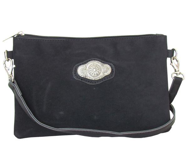 Lady Edelweiss Trachtentasche 10201 Schwarz Spange antik