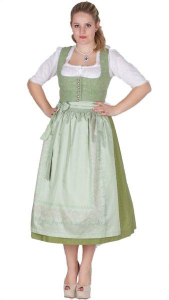 15255 Wenger Dirndl Isolde 80er länge Gr 38 grün loden