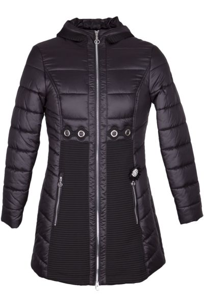 Sportalm Mantel Outfit TR schwarz mit Kaputze Fb 59